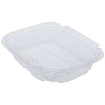 Karat 8oz PET Plastic Tamper Resistant Hinged Deli Container with Lid - 200 ct