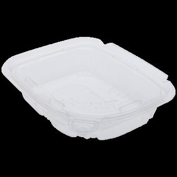 Karat 8oz PET Plastic Tamper Resistant Hinged Deli Container with Lid - 200 ct