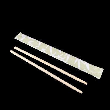 "Karat 9"" Paper Wrapped Bamboo Chopsticks - Bamboo"