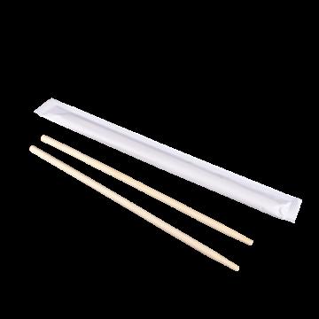 """Karat 9"""" Paper Wrapped Bamboo Chopsticks - White"""
