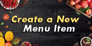 Create a New Menu Item