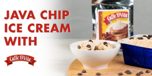 No Churn Java Chip Ice Cream | Caffe D'Vita