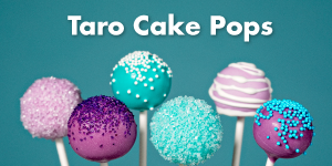 Taro Cake Pops