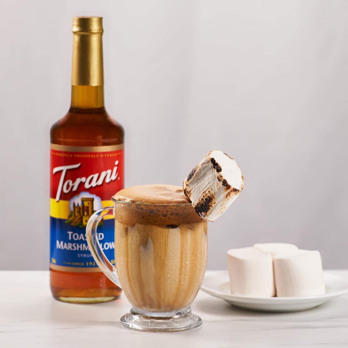 dalgona coffee with marshmallows