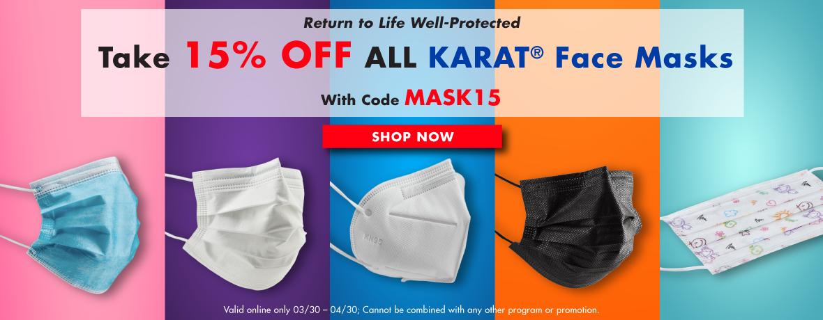 Take 15% Off All Karat Face Masks