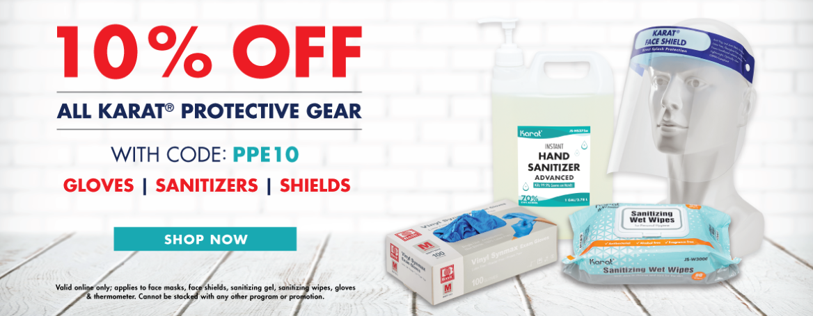 1Gal Sanitizer, Gloves, Face Shields, Wet Wipes Sale 10% OFF